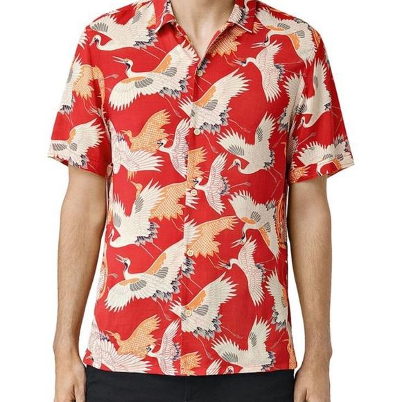 da819731c All Saints Shirts | Tsuru Hawaiian Print Shirt | Poshmark